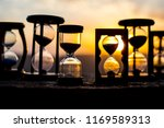 hourglass passing of time lapse ... | Shutterstock . vector #1169589313