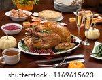 roasted pepper turkey for... | Shutterstock . vector #1169615623