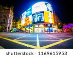 piccadilly circus in london at... | Shutterstock . vector #1169615953