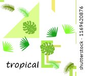 tropical summer tropical plant... | Shutterstock .eps vector #1169620876
