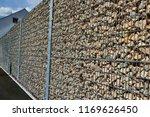 stones in metal wire cage stone ... | Shutterstock . vector #1169626450