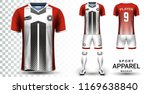 soccer jersey and football kit... | Shutterstock .eps vector #1169638840