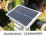 solar panel in the garden | Shutterstock . vector #1169644999