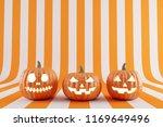 happy halloween pumpkin on... | Shutterstock . vector #1169649496