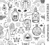 mystic  magic  background.... | Shutterstock .eps vector #1169651863
