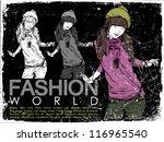 vintage vector illustration of... | Shutterstock .eps vector #116965540