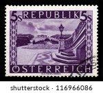 austria   circa 1948  a stamp... | Shutterstock . vector #116966086
