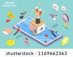isometric flat vector concept... | Shutterstock .eps vector #1169662363
