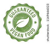 guaranteed vegan food stamp... | Shutterstock .eps vector #1169666023