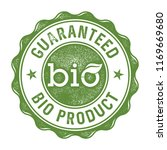 guaranteed bio product stamp... | Shutterstock .eps vector #1169669680