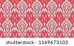 ikat seamless pattern. vector... | Shutterstock .eps vector #1169673103