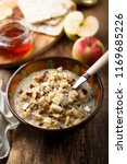 bircher muesli  or oatmeal... | Shutterstock . vector #1169685226