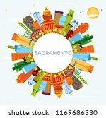 sacramento usa city skyline... | Shutterstock .eps vector #1169686330