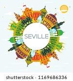 seville spain city skyline with ...   Shutterstock .eps vector #1169686336