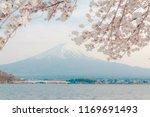 mt fuji. kawaguchiko.sakura.... | Shutterstock . vector #1169691493