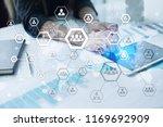 organisation structure chart ... | Shutterstock . vector #1169692909