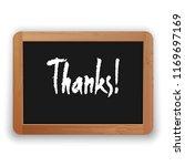 thanks. vector hand written...   Shutterstock .eps vector #1169697169