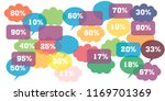 percent discount  sale up ... | Shutterstock . vector #1169701369