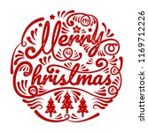 merry christmas  happy new year ... | Shutterstock .eps vector #1169712226