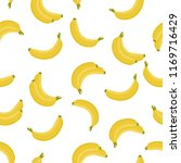 yellow banana seamless pattern. ... | Shutterstock .eps vector #1169716429