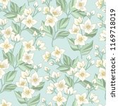 floral seamless pattern with... | Shutterstock .eps vector #1169718019