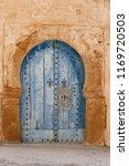 Old Tunisian Blue Door And...