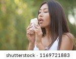 photos of asian women eating...   Shutterstock . vector #1169721883