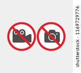 prohibiting vector sign.... | Shutterstock .eps vector #1169729776