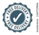 free delivery vector stamp label | Shutterstock .eps vector #1169729806