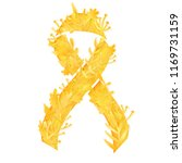 stylized gold ribbon with paper ... | Shutterstock .eps vector #1169731159
