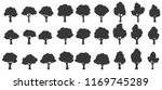 set of trees silhouette... | Shutterstock .eps vector #1169745289