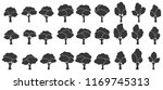 set of trees silhouette... | Shutterstock .eps vector #1169745313