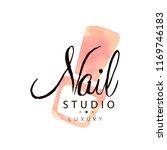 nail studio luxury logo  design ...   Shutterstock .eps vector #1169746183
