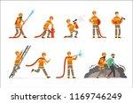 firemen characters doing their...   Shutterstock .eps vector #1169746249
