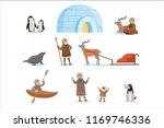 eskimo characters in... | Shutterstock .eps vector #1169746336