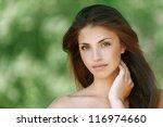 portrait of nice dark haired... | Shutterstock . vector #116974660