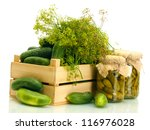 Fresh Cucumbers In Wooden Box ...