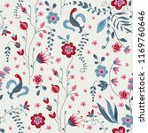 embroidery exotic floral... | Shutterstock .eps vector #1169760646