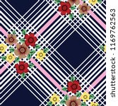 vector flowers bunches pattern...   Shutterstock .eps vector #1169762563