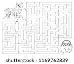 halloween maze game for... | Shutterstock .eps vector #1169762839