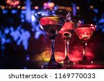 several glasses of famous... | Shutterstock . vector #1169770033