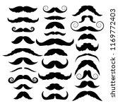 set of mustache on white... | Shutterstock .eps vector #1169772403