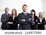 group of business people with... | Shutterstock . vector #116977330