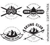 set of vintage snowboarding ... | Shutterstock .eps vector #1169774656