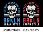 retro white skulls. vintage... | Shutterstock .eps vector #1169786599