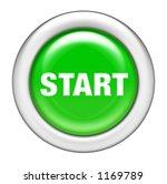 Green Start Button - stock photo