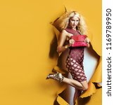 portrait of a fashionable woman  | Shutterstock . vector #1169789950