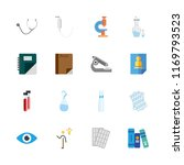 16 science icons set | Shutterstock .eps vector #1169793523