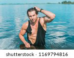 muscular young athletic sexy... | Shutterstock . vector #1169794816