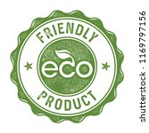eco friendly product label stamp | Shutterstock .eps vector #1169797156